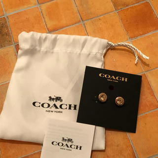 COACH - ★正規品★ コーチ ピンクゴールド ピアス COACH