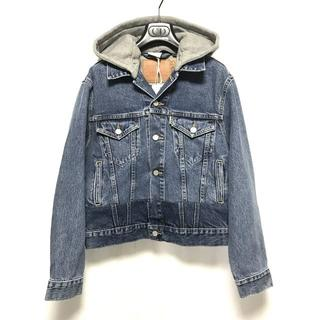 バレンシアガ(Balenciaga)のVETEMENTS 19SS フード付き デニムジャケット  XS 新品 本物(Gジャン/デニムジャケット)