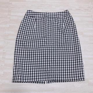 ナチュラルビューティーベーシック(NATURAL BEAUTY BASIC)のNBB ギンガムチェック タイトスカート(ひざ丈スカート)
