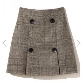 GRL - お値段交渉あり!グレンチェックダブルボタンスカート