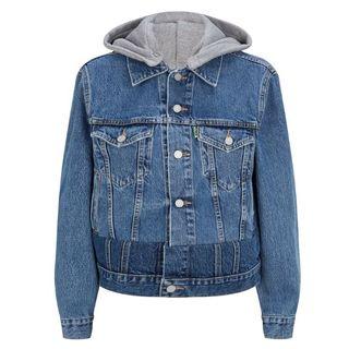 バレンシアガ(Balenciaga)のVETEMENTS 19SS フード付き デニムジャケット M 新品 本物(Gジャン/デニムジャケット)