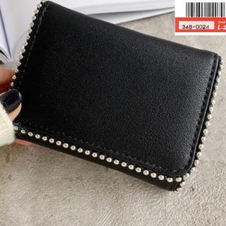 しまむら - しまむら MUMU mumu スタッズ使い ミニ財布 ブラック