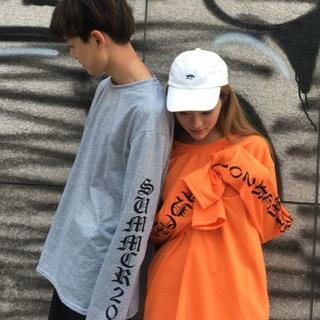 スーパーロングスリーブ Tシャツ★グレー/XXL.XL.L.M(Tシャツ/カットソー(七分/長袖))