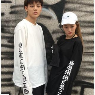 スーパーロングスリーブ Tシャツ★ホワイト/XXL.XL.L.M(Tシャツ/カットソー(七分/長袖))