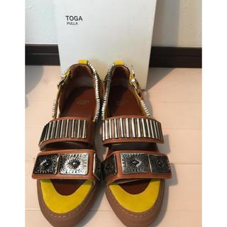 トーガ(TOGA)のTOGA スタッズサンダル 試着のみ未使用 40サイズ(サンダル)