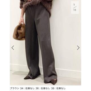 アパルトモンドゥーズィエムクラス(L'Appartement DEUXIEME CLASSE)の新品未使用☆APSTUDIO☆E.THOMASストレートイージーパンツ・34(カジュアルパンツ)
