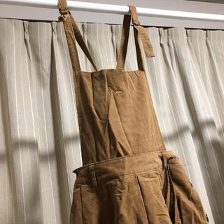 ミスティウーマン(mysty woman)のミスティウーマン 2way サロペット ワンピース スカート キャメル(ロングスカート)