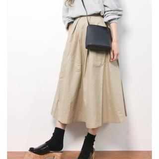 merlot - コットンフレアタック スカート