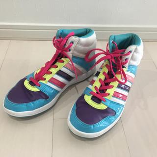 アディダス(adidas)のアディダスadidas★ハイカットダンスシューズ★マルチカラー24(スニーカー)