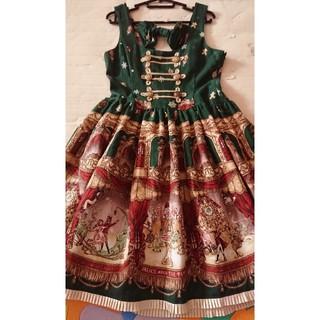 BABY,THE STARS SHINE BRIGHT - 雪降る聖夜の不思議な贈り物柄ナポレオンジャンパースカート