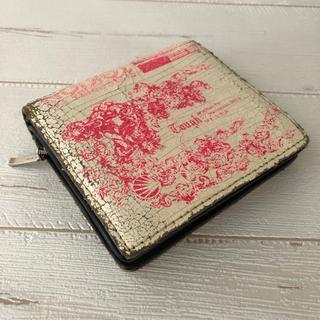 タフ(TOUGH)のタフtough 二つ折り本革財布 ヴィンテージ加工 コイン入れ ピンク パス入れ(折り財布)