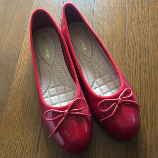 【新品未使用】shoes in closet バレエシューズ 赤 エナメル(バレエシューズ)