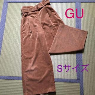 GU - GU コーデュロイ ワイドパンツ キャメル Sサイズ