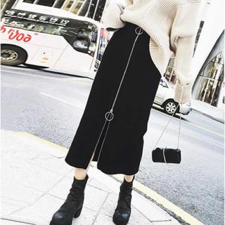 即発送❤︎ジッパー付きスカート ☆☆☆(ロングスカート)