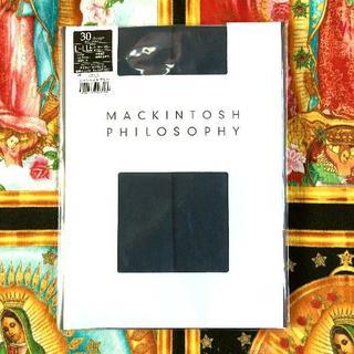 マッキントッシュ(MACKINTOSH)の新品マッキントッシュ ストッキング LーLL ブルグレー(タイツ/ストッキング)