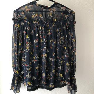 ショコラフィネローブ(chocol raffine robe)のchocol raffine ボタニカル柄ブラウス(シャツ/ブラウス(長袖/七分))