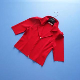 ルネ(René)の■Rene■ 38 赤 ニットジャケット カーディガン レッド ルネ(カーディガン)