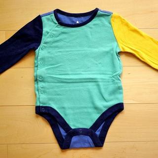 ベビーギャップ(babyGAP)の【baby GAP3-6months】長袖カラーブロックボディシャツ(ロンパース(ロンパース)