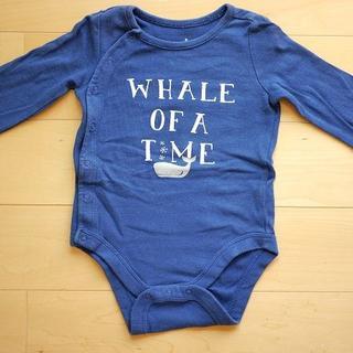 ベビーギャップ(babyGAP)の【baby GAP3-6months】長袖クジラ柄ボディシャツ(ロンパース)A3(ロンパース)