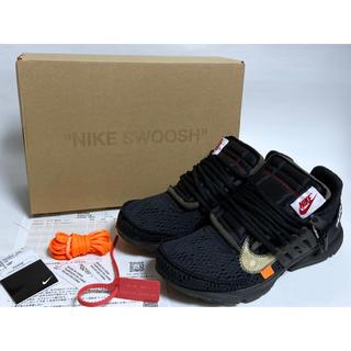 ナイキ(NIKE)の Nike off-white  プレストブラック 28cm  スニーカーズ(スニーカー)