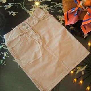 カルバンクライン(Calvin Klein)のカルバンクライン ジーンズ スカート 13,600円  ベージュ フリンジ スト(ひざ丈スカート)