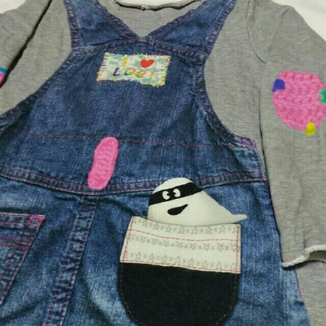 Lee(リー)のLee ジーウィズ コラボワンピース キッズ/ベビー/マタニティのキッズ服 女の子用(90cm~)(ワンピース)の商品写真