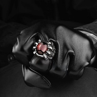 Mling 男性ヒップホップリングレトロチタン鋼ゴシックファッション(リング(指輪))