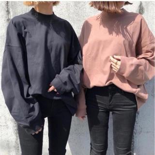 UNIQLO - 新品❤️UNIQLO モックネックT L ブラウン ZARA todayful