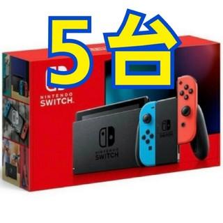 Nintendo Switch - Nintendo 新型 switch 5台 ネオンのみ