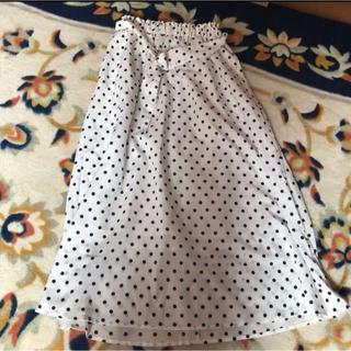 natural couture - ドット柄ロングスカート