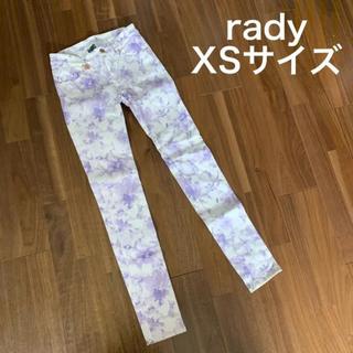 レディー(Rady)のrady 花柄パンツ ラベンダー(スキニーパンツ)