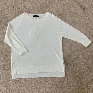 アズールバイマウジー(AZUL by moussy)のホワイト トップス(Tシャツ(長袖/七分))