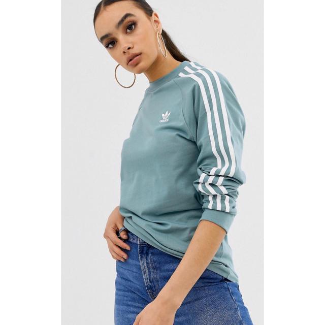 adidas(アディダス)の【Lサイズ】新品未使用 adidas ロングスリーブ グリーン アディダス レディースのトップス(Tシャツ(長袖/七分))の商品写真