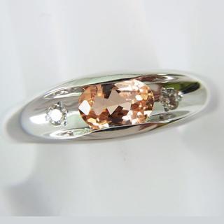 K18WG インペリアルトパーズ ダイヤモンド リング 11号[f72-1](リング(指輪))