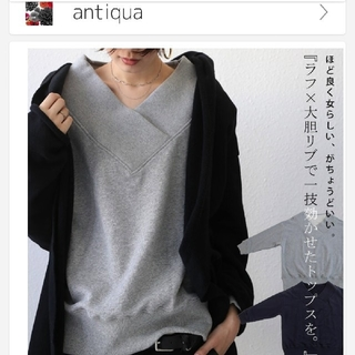アンティカ(antiqua)のアンティカ トップス スウェット(カットソー(長袖/七分))