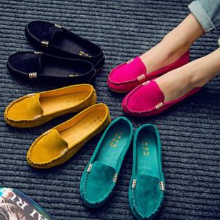 色鮮やかフラットシューズ✨(ローファー/革靴)