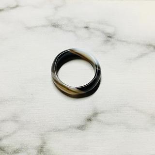 黒縞メノウリング(リング(指輪))