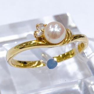 K18 パール ダイヤモンド リング(リング(指輪))