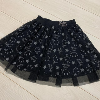 女の子 スマイル柄 シフォンスカート 130