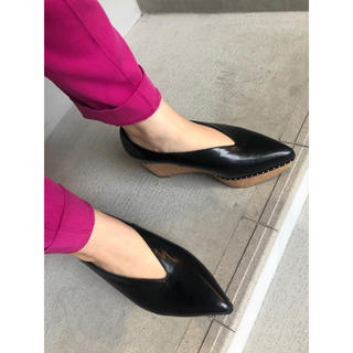 ランダ(RANDA)のRANDA 厚底フラットシューズ(ローファー/革靴)