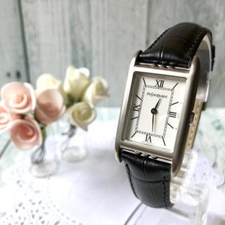 サンローラン(Saint Laurent)の【美品】Yves Saint Laurent 腕時計 スクエア ボーイズ 銀(腕時計(アナログ))