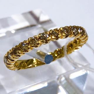 K18 ダイヤモンド エタニティリング 0.50ct(リング(指輪))