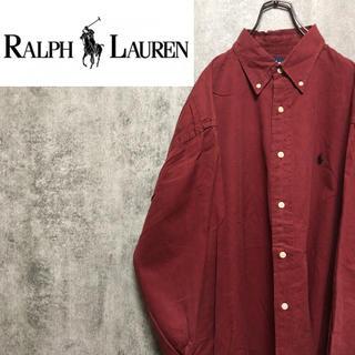 Ralph Lauren - 【激レア】ラルフローレン☆ワンポイント刺繍ロゴスーパービッグシャツ 90s
