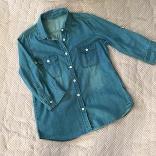 しまむら - 値下げ‼️しまむら☆袖から捲れるデニムシャツ  M
