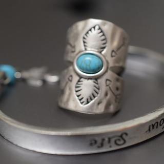8110 在庫処分 リング ターコイズ プレゼント 12月誕生日石(リング(指輪))
