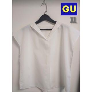 ジーユー(GU)のGU♡スキッパーシャツ XL(シャツ/ブラウス(半袖/袖なし))