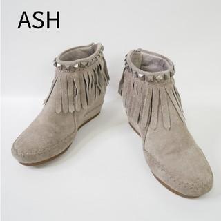 アッシュ(ASH)のASH アッシュ 38サイズ スウェード イタリア製 上げ底 ショートブーツ(ブーツ)
