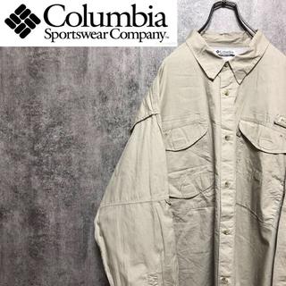 コロンビア(Columbia)の【激レア】コロンビア☆PFGシリーズロゴタグ入りフィッシングシャツ 90s(シャツ)