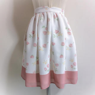 LODISPOTTO - LODISPOTTO 小花柄シフォンスカート