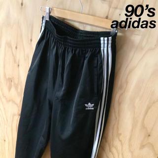 adidas - 【美品】90's 国旗タグ adidas  トラックパンツ ブラック ホワイト